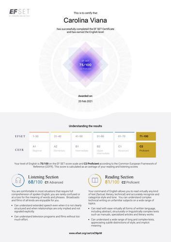 Certificado de idiomas para colocar no currículo ❤